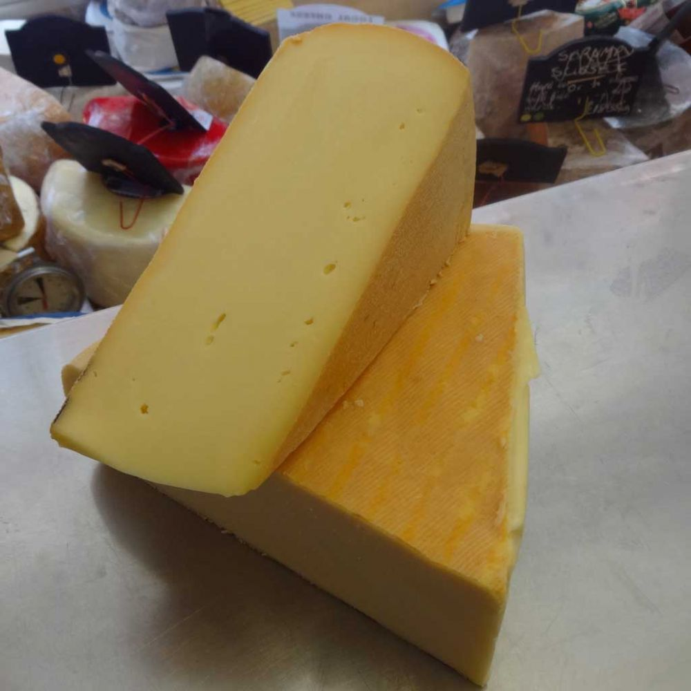 Raclette Cheese, traditional swiss melting cheese